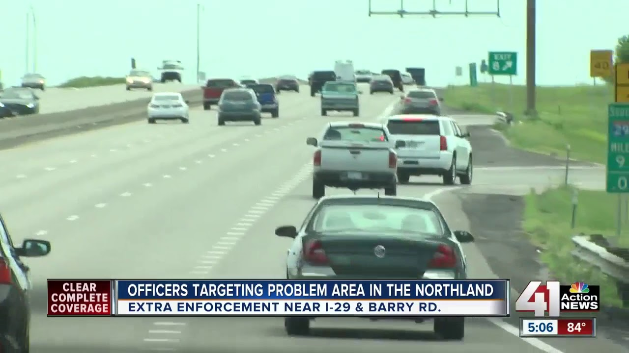 Law enforcement looking to curb crashes around I-29 near Barry Road