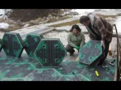 Prototype Solar Panel Roads Youtube