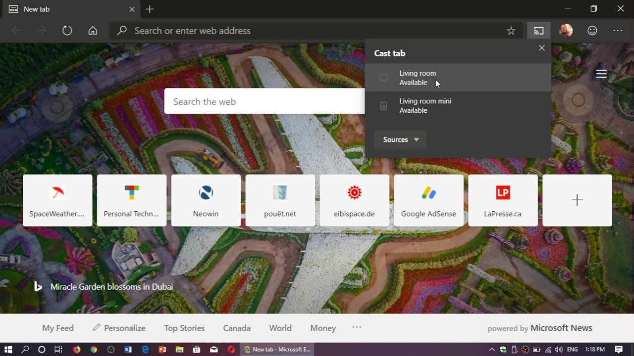 Windows 10 Microsoft Edge Chromium How to cast screen to your Chromecast  device