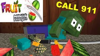 Monster School : NINJA FRUIT CHALLENGE - Minecraft Animation
