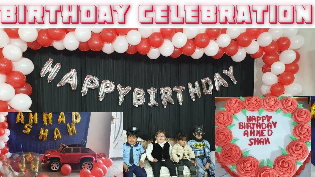 Cute Ahmad shah Birthday Celebration video 2020