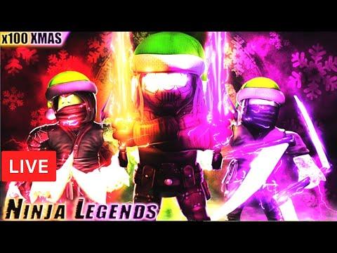 🎅🎄 CHRISTMAS UPDATE  | Ninja Legends ELEMENTAL GIVEAWAYS ROBLOX LIVE STREAM   (25Dec2019) thumbnail