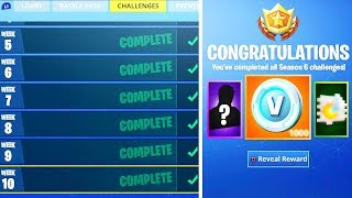 What happens AFTER ALL Week Challenges COMPLETE in Fortnite! (NEW SEASON 6 REWARDS UNLOCKED)