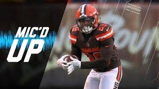 Listen to Cleveland Browns running back, Duke Johnson, mic'd up aga...