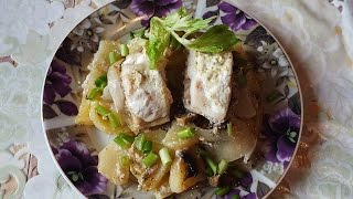 Окунь с картошкой в духовке рецепт.