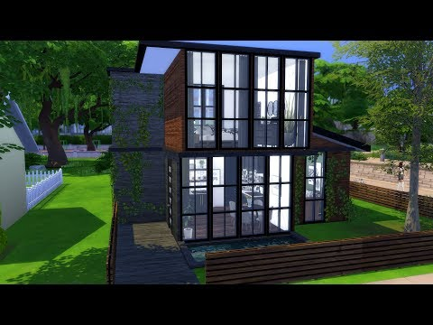 THE SIMS 4: SPEED BUILD // TINY MODERN HOME + CC LINKS