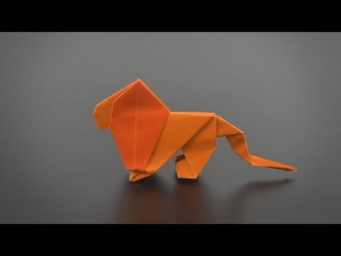 Easy Origami Lion - Instructions in English (BR) - REMAKE
