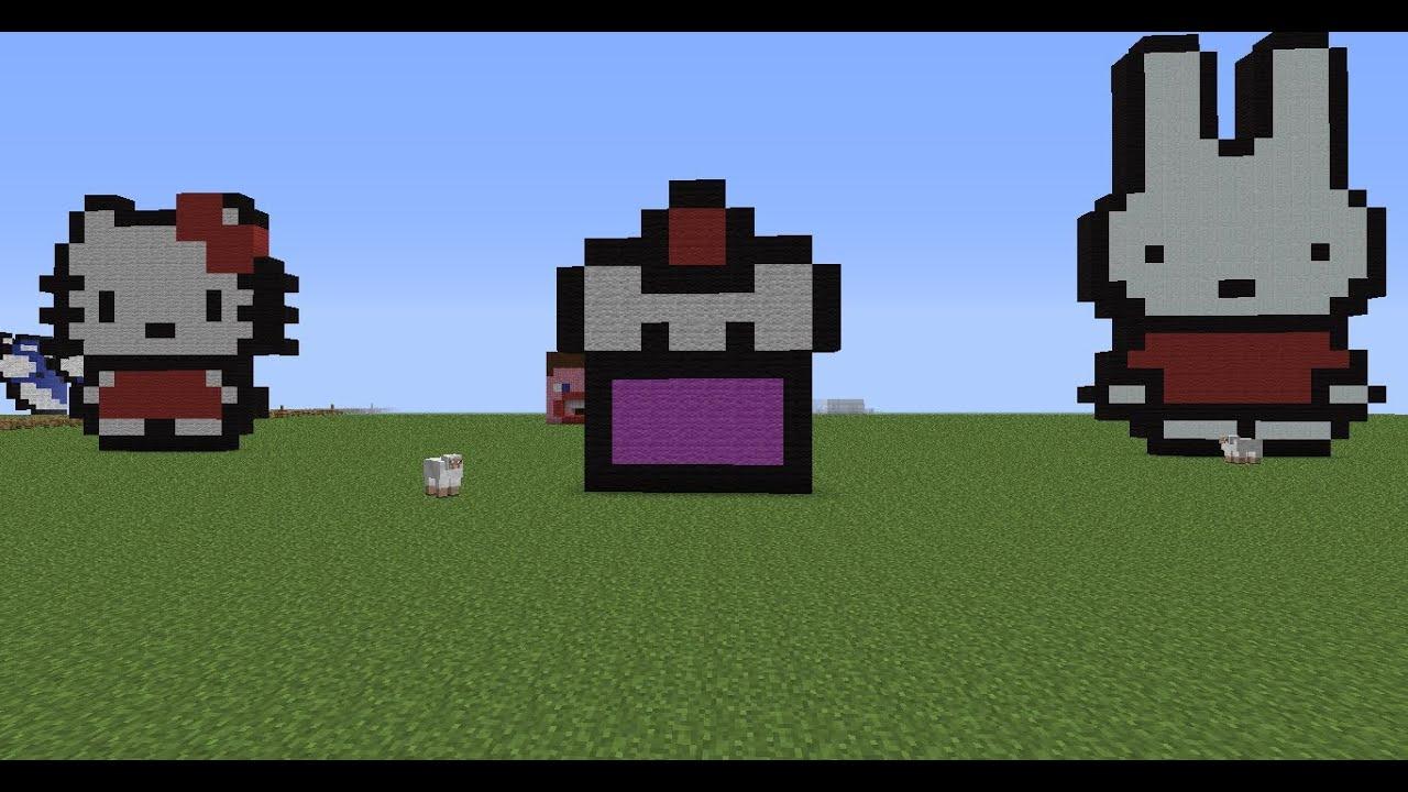 minecraft pixel art tutorial 12: cupcake - YouTube