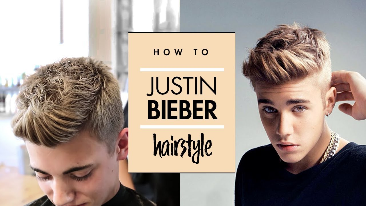 Justin Bieber Hair Tutorial Mens Celebrity Hairstyle By Vilain