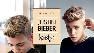 Justin Bieber Hair Tutorial - Men