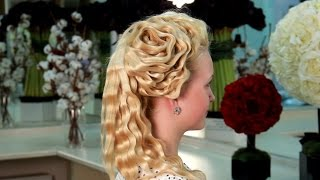 Вечерняя прическа.Цветок из волос. Обучение стилистов-парикмахеров. VIP раздел