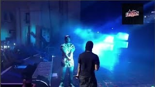 WIZKID WEARS MASK TO SURPRISE DAVIDO ON STAGE AT 30 BILLION UK TOUR IN LONDON