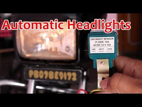 automatic headlights bike