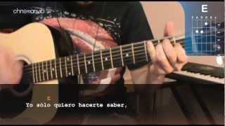"""Cómo tocar """"Aunque no te pueda ver"""" de Alex Ubago en Guitarra (HD) Tutorial - Christianvib"""