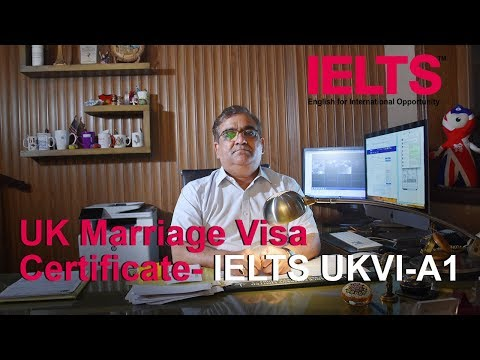UK Marriage Visa Certificate - IELTS UKVI - A1