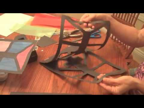 History Projects: Make a Stained Glass Window Out of Paper - YouTube