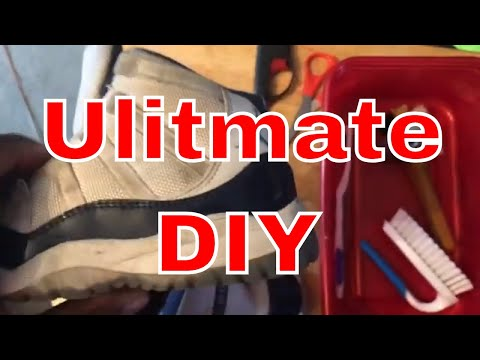 Deep cleaning and restore Jordan 11s kids size 3y diy  how to Tutorial!