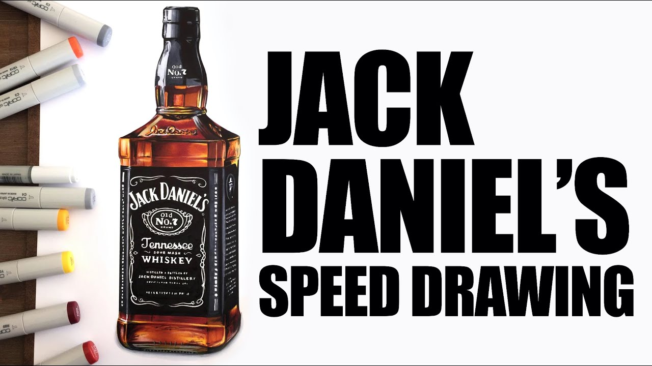 jack daniels bottle drawing - photo #33