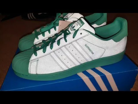 Mens adidas Superstar Adicolor Shock MINT Green S80331 US 9.5