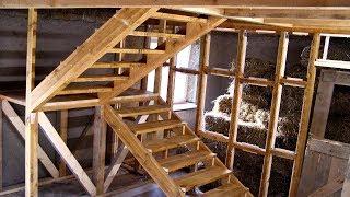 Strawbale Vlog 59 - schody drewniane - część 1 - konstrukcja