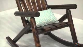 Torched Log Adirondack Rocking Chair   Product Review Video