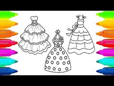 Para Colorir Vestidos Para Colorir Como Pintar Com Marcadores