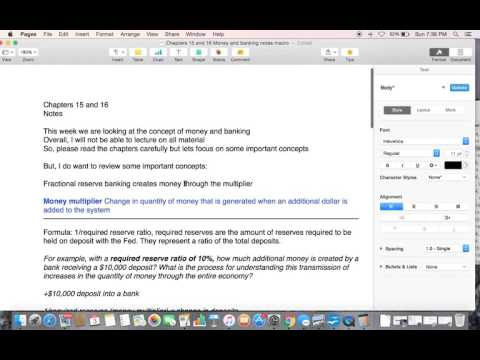 Chapter 15&16 Money and Banking and Monetary Policy  macro video