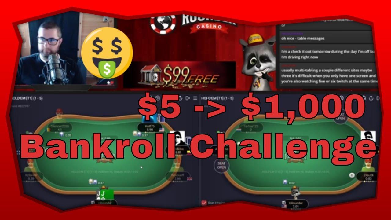 $5 to $1000 Cash Game Poker Bankroll Challenge Pt. 4 | Rounder Casino