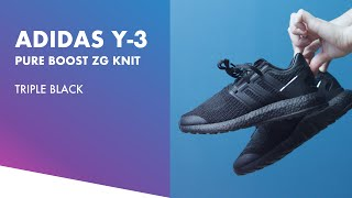 new style 8fc7f 88f21 Adidas Y-3 Pureboost ZG Knit Triple Black  Detail  ...