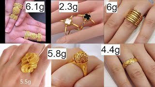 Latest gold rings with weight