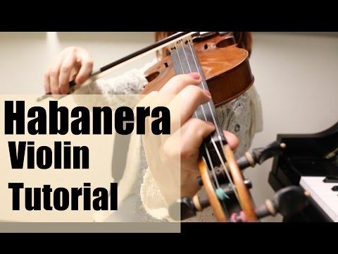 "Melody from Carmen's ""Habanera"" -- Violin Tutorial thumbnail"