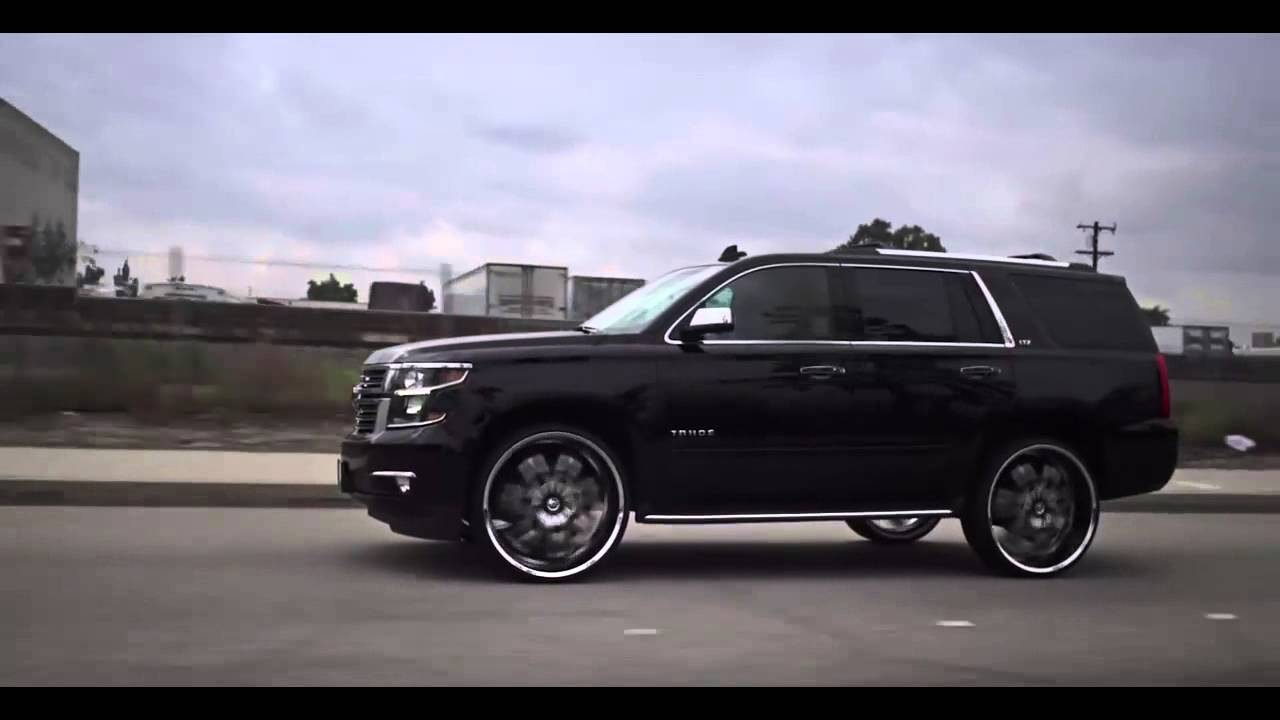2015 Black Chevy Tahoe LTZ on 28 inch Diablo Morpheus ...