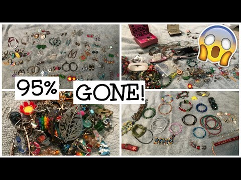 MASSIVE Jewelry Collection Declutter- 95% GONE!!
