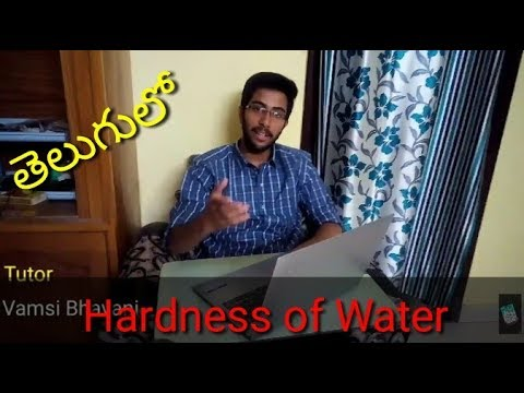 Hardness Of Water In Telugu Engineering Chemistry.
