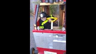 Building a fire truck for Halloween Costume