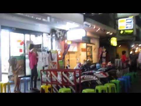 """【日本人街 タニヤ通りを行く】 """"Taniya Street"""" Japanese Karaoke Night Club Street , Silom Bangkok Thailand"""