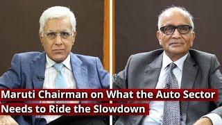 Maruti Chairman on What the Auto Sector Needs to Ride the Slowdown I Karan Thapar