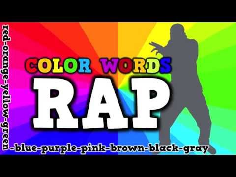COLOR WORDS RAP (song for kids about spelling color words)