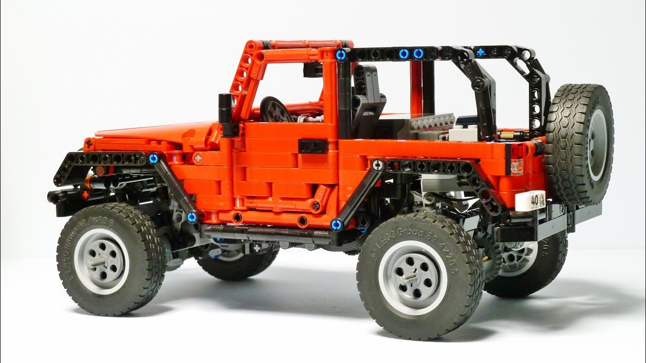 lego technic jeep wrangler youtube. Black Bedroom Furniture Sets. Home Design Ideas