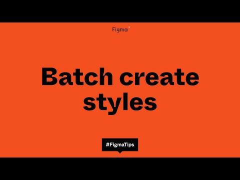 Batch create Figma styles
