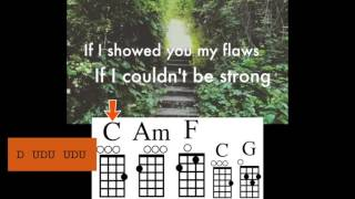 Locked Away with ukulele chord guide - Adam Levine & R. City