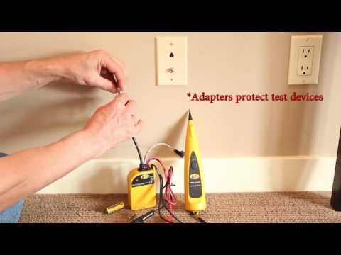 How to Use a Cable TV or CATV Specific Tone and Probe Kit to Track and Identify Coaxial Cable