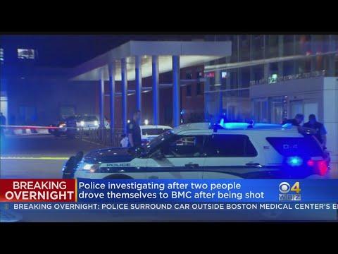 1 Killed In Shooting, Police Establish Crime Scene Outside Boston Medical Center