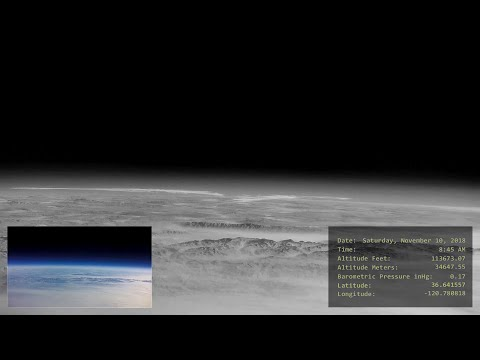 High Altitude Balloon 18 (Infrared Camera)