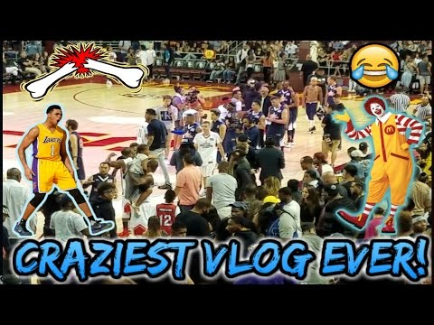 MAC MILLER&#;S ANKLES GET BROKEN! Crazy Power  Celebrity Basketball Game Vlog