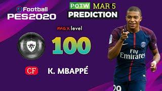 POTW MAR 5 '20 PREDICTION   PES 2020 Mobile