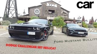 Ford Mustang Bullitt y Dodge Challenger Hellcat | Prueba / Test / Review en español / Revista Car