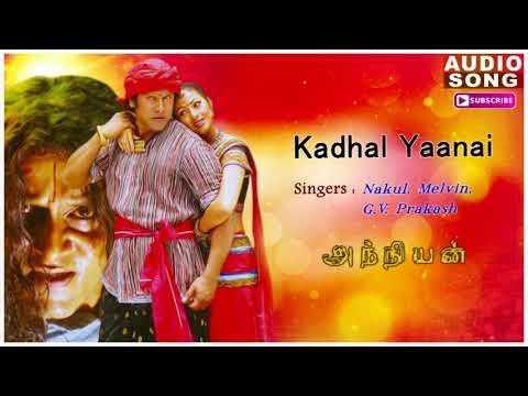Kadhal Yaanai Song   Anniyan   Shankar Movie   Anniyan songs   Vikram songs   Harris Jayaraj hits