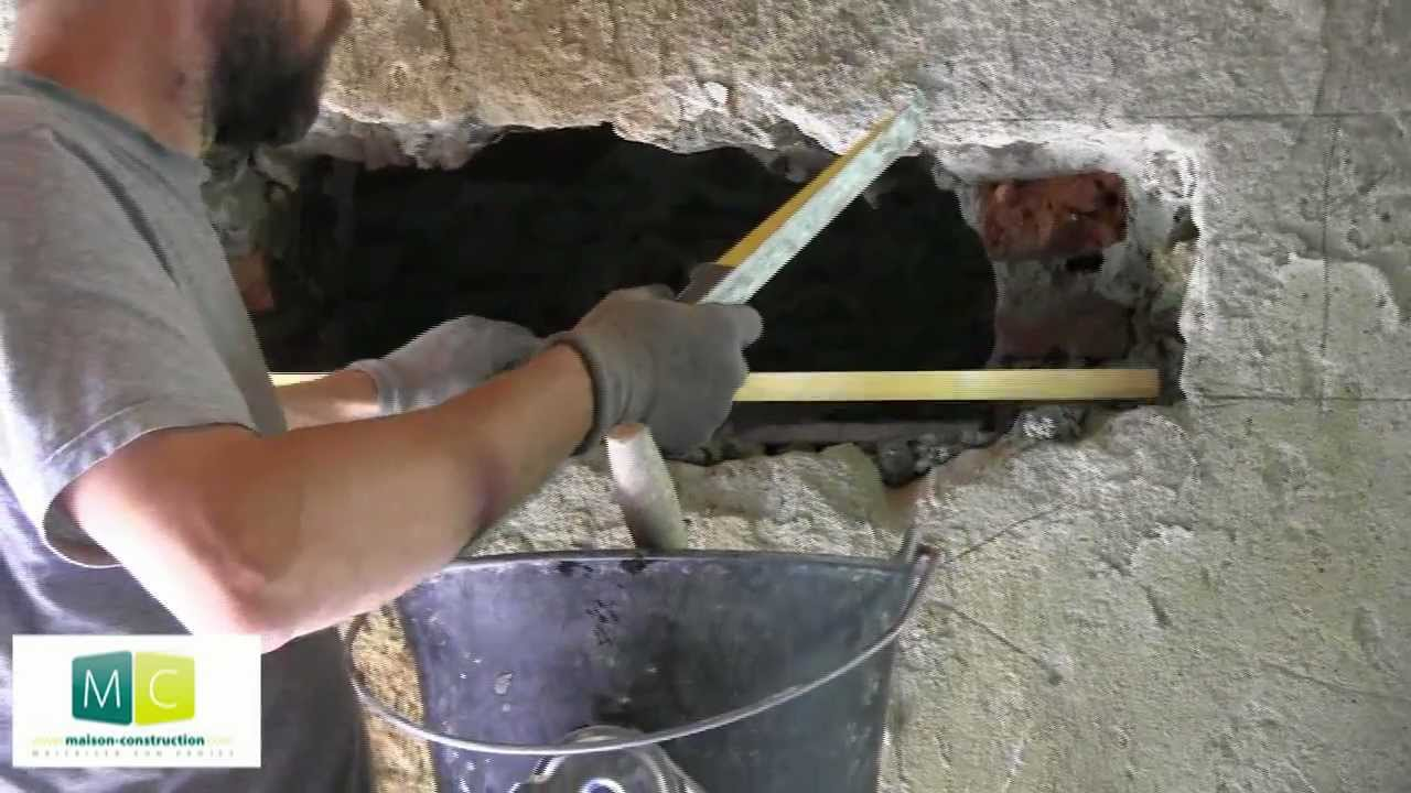 Maçonnerie, Pose Linteau, Percer Une Porte, Make A Door Lintel - YouTube