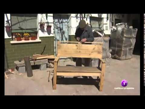 Artesano de bancos de madera youtube - Bancos de madera para banos ...
